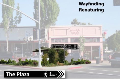 Renaturing/Wayfinding example